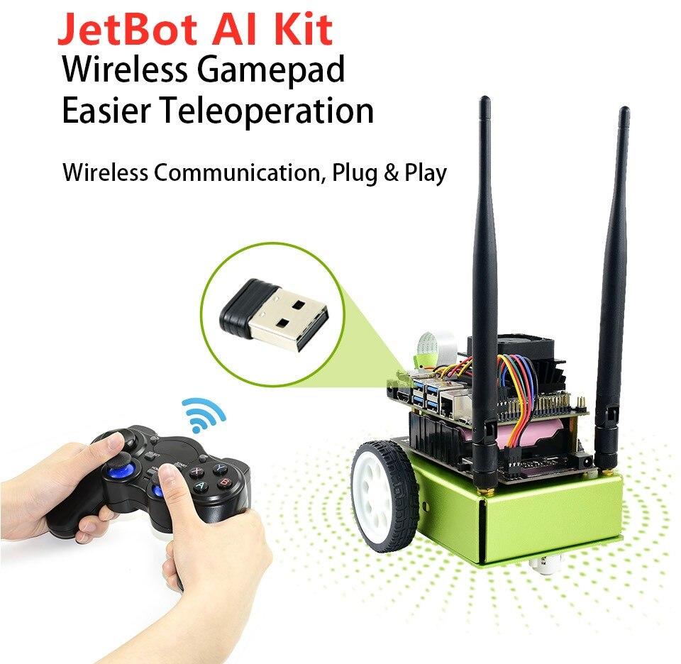 Waveshare Jetbot Ai Kit/Jetracer Ai Kit Nvidia Partner Ufficiale Ai Intelligente Robot Sulla Base di Jetson Nano