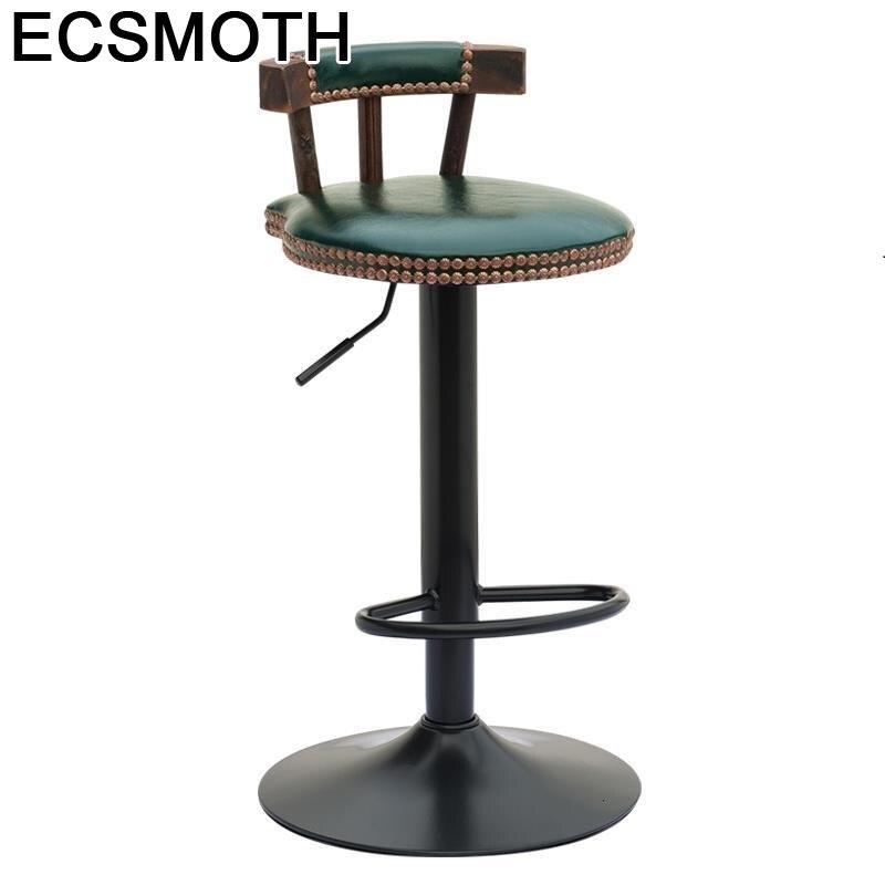 Kruk Fauteuil Sandalyesi Bancos Moderno Comptoir Banqueta Cadir Stuhl Leather Silla Stool Modern Tabouret De Moderne Bar Chair