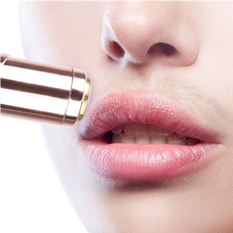 Lipstick Shape Mini Body Facial Electric Hair Remover Painless Safety Neck Leg Hair Remover Tool Body Epilator