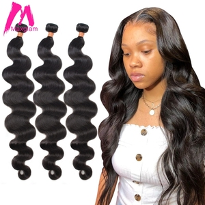 Brazilian Human Hair Weave Bundles Extension Body Wave Extensions 8 to 30 inch Long Natural for Black Women Remy 1 3 4 Bundles(China)