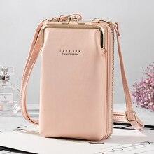 Women's Wallets New Double-Layer Mobile Phone Bag Korean Ladies Fashion Messenger Shoulder Storage Wallet