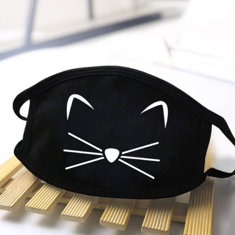 Cat Cute Foot Print Expression Face Soft Masks Dustproof Respirator Anti Mouth Mask Comfortable Mask Breathable Polyester Masks