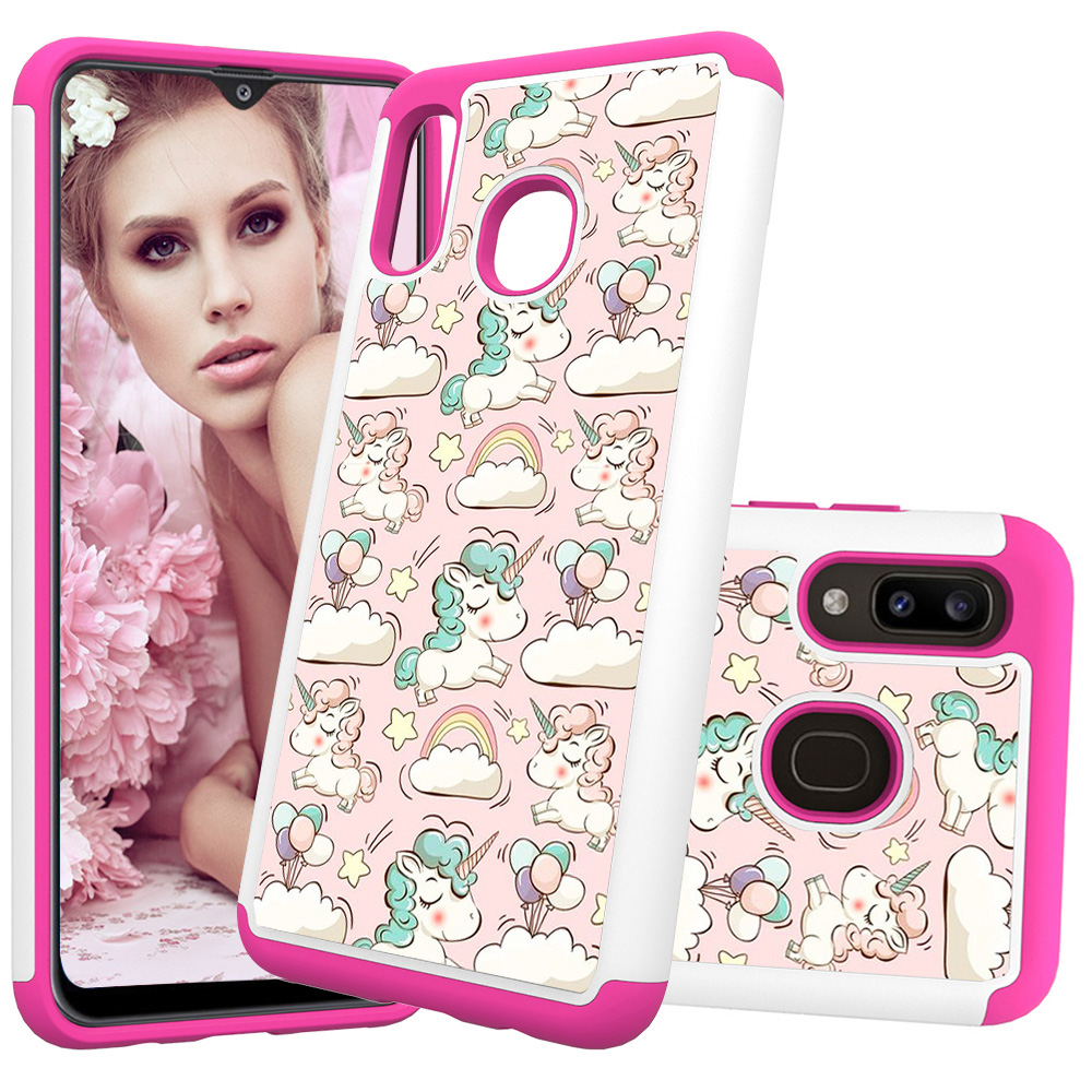 Image 5 - Lovely Painted Leather Phone Cases for Samsung Galaxy A20 A30 Case for Samsung A50 A20e A10e PC Back Cover Soft TPU Animal Coque-in Fitted Cases from Cellphones & Telecommunications