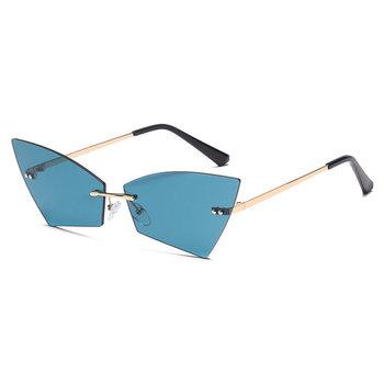 Rimless Butterfly okulary przeciwsłoneczne damskie moda marka 2020 odcienie UV400 Vintage cukierkowe kolory okulary z pudełkiem FML tanie i dobre opinie Mincl WOMEN Bez oprawek Dla dorosłych Stop Gradient Z tworzywa sztucznego