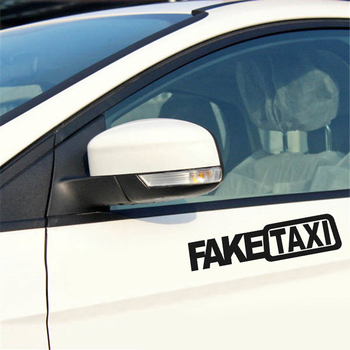 1Pcs Funny Car Sticker FAKE TAXI Drifting Sign Race Auto Vehicle Decal Decoration 5cm x 20cm 2