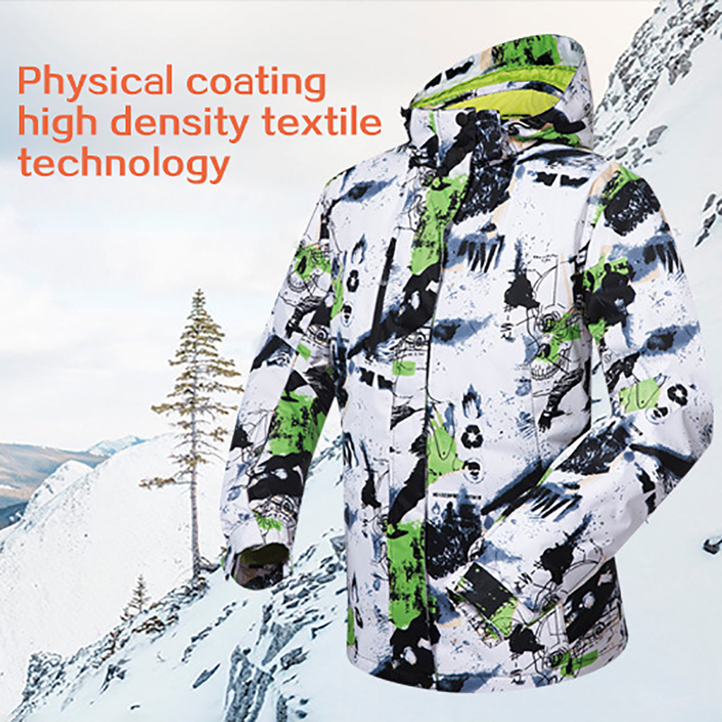 Frashion Print Ski Suit Men Winter Warm Windproof Waterproof Outdoor Sports Thicken Warm Snow Clothes Men Ski Ropa Ski Hombre #3