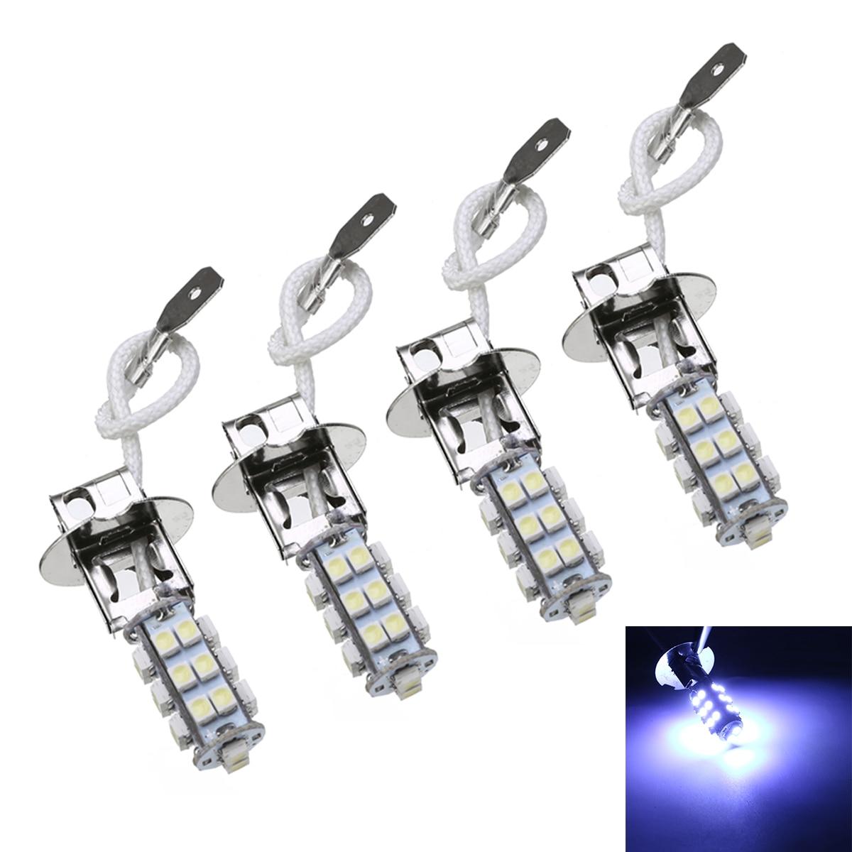New Arrival 4pcs/set H3 2835 LED Car Fog Driving Light Lamp Bulb 6000K White 12V Interior Source