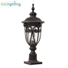 Европейский Стиль Водонепроницаемый колонна светильник сада