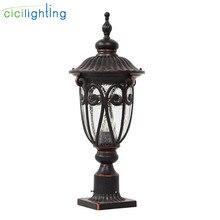 European style waterproof pillar light,garden landscape lighting,column post lamps outdoor fence decorative glass fixtures