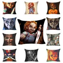 1 Pcs Halloween Horror Cushion Cover Decoration Pillow Durable And Washable Case For Home Office Car Pillowcase