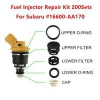 200 conjuntos para subaru injector de combustível reparação kit serviço para oem 16600 aa170 para 2003 06 ej255 e ej257 2.0 e 2.5l frete grátis|Injetor de combustível| |  -