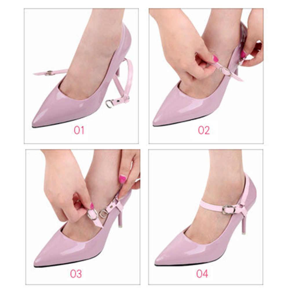 ผู้หญิงสำหรับรองเท้าส้นสูงรองเท้าปรับเข็มขัดข้อเท้า Holding Anti-skid Bundle Laces Tie สายรัดรองเท้าตกแต่ง