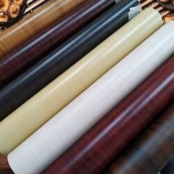 1M Waterproof Wood Vinyl Wallpaper Roll Self Adhesive Contact Paper Doors Cabinet Desktop Modern Furniture Decorative Sticker