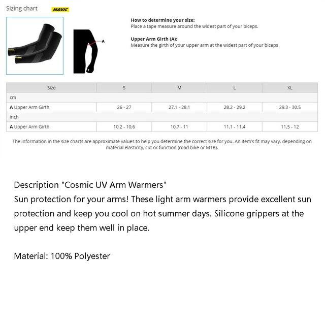 Pro equipe mavic cósmica aquecedores de perna proteção uv preto ciclismo braço mais quente respirável bicicleta corrida mtb perna manga 5