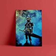 Черный клевер Аста аниме fanart плакат холст настенные художественные