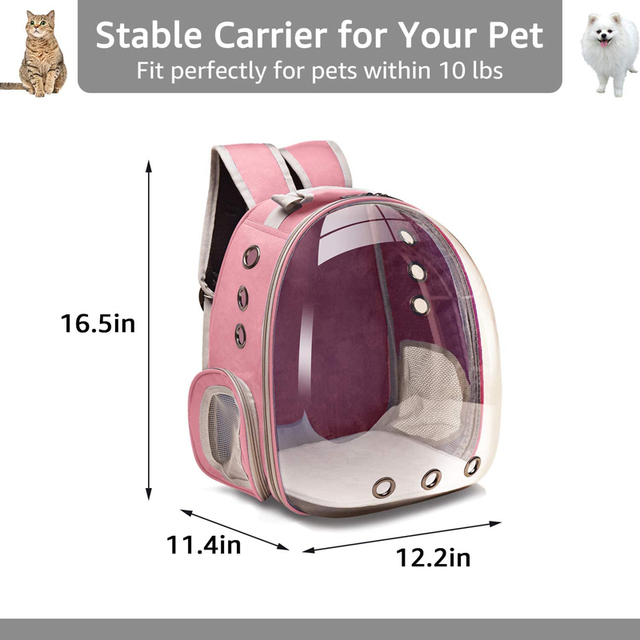 Portable Breathable Cozy Backpack Pet Carrier  5
