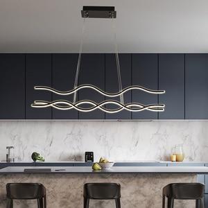 Image 2 - מינימליסטי מודרני LED תליון אורות חדר אוכל סלון תליית Hanglampen השעיה תליון מנורת מתקן משלוח דואר