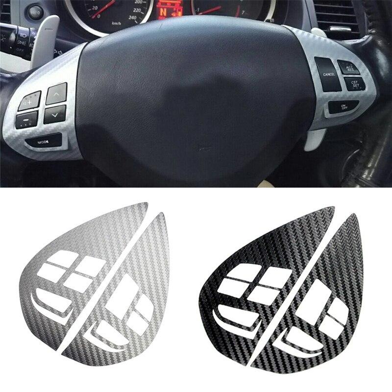 Кнопка управления аудио круиз-контролем кнопка переключения рулевого колеса наклейка крышка для Mitsubishi ASX Lancer Outlander RVR Pajero Sport