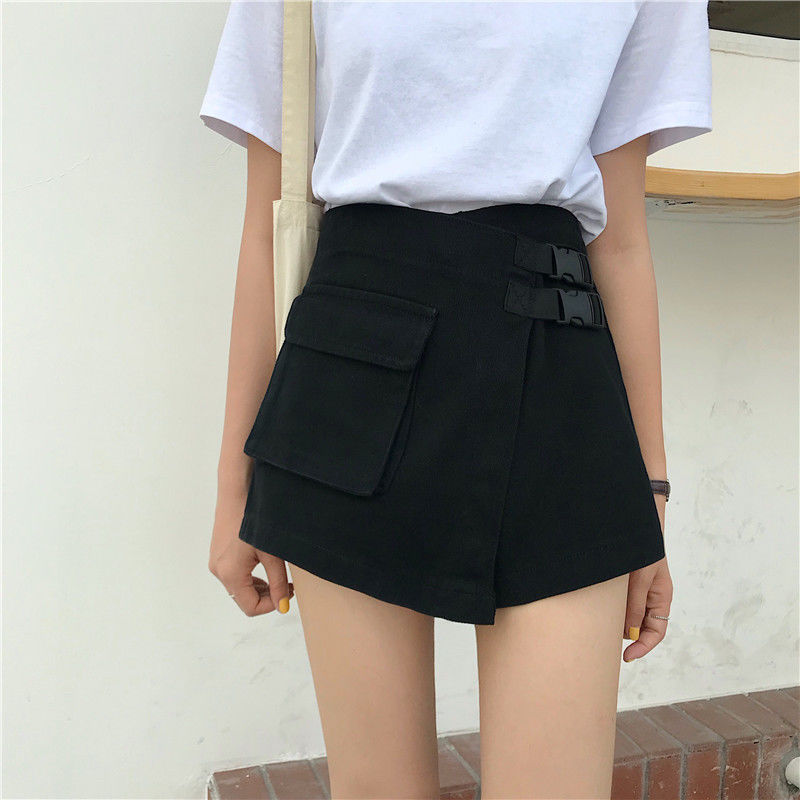 Big Size Women's Fat Sister Summer New Jeans Shorts Women 200jin Korean Version Students' Loose And Thin Shorts Skirt