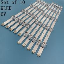 """10 pièces LED bande Pour LG Innotek DRT 3.0 49 """"A/B 49LB5500 49LB550V 49LB5550 6916L 1944A 6916L 1945A 6916l 1788A 6916l 1789A"""