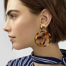 Earrings For Women Acrylic Boho 2019 Acetate Dangle Drop Earings Fashion Big Bohemian Accessories Geometric Luxury Trendy