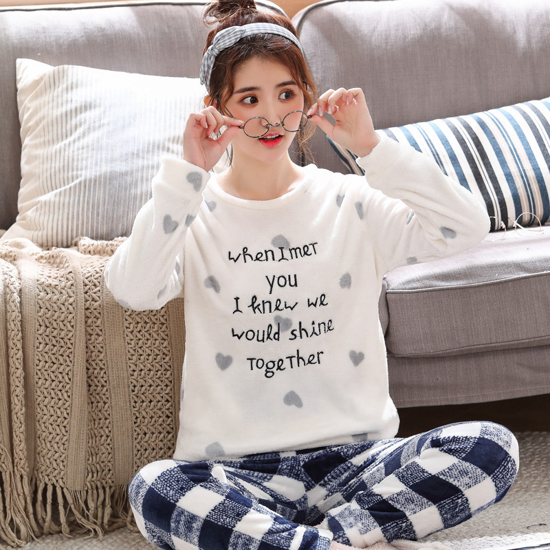Family Winter Flannel Pajamas Set New Fashion Warm Cute Pajamas Comfortable Pajamas Family Wear Pajamas