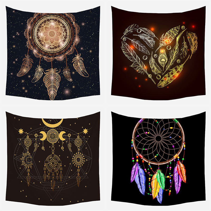 Mandala Wall Hanging Living Room Decoration Tapestry Wall Bohemia Mandela Tapestry Wall Fabric College Dorm Blankets