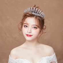 цена на Bridal Wedding Tiara Princess Crystal Snowflake Crown Fashion Hair Accessories Jewelry Bride Silver Tiaras and Crowns Girls