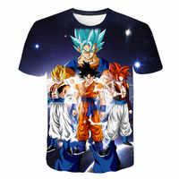 Neue 2019 Männer der 3D T-shirt Dragon Ball Z Ultra Instinct Goku Super Saiyan Gott Blau Vegeta Gedruckt Cartoon Sommer t-shirt Größe 6XL