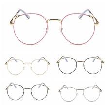 Transparent Eyewear Metal Frame Female Cat Eye Sunglasses Anti-Blue