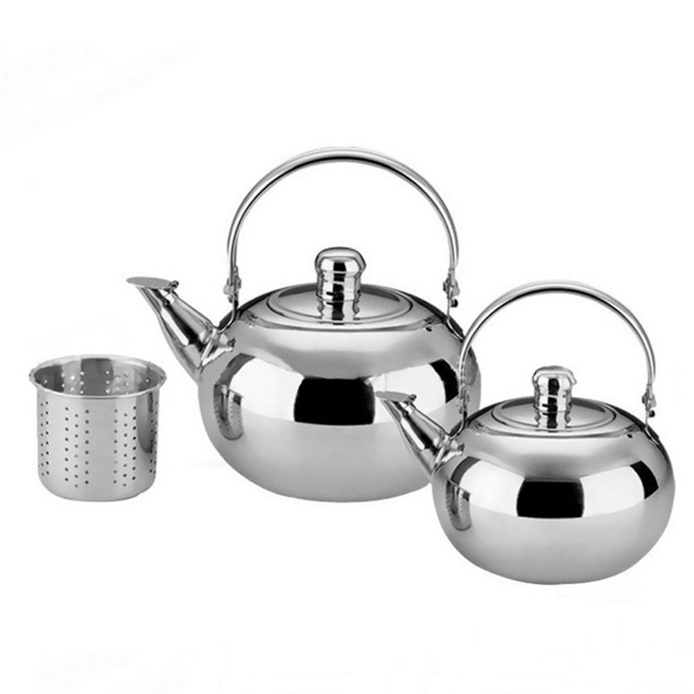 Нержавеющая сталь Cafetera изысканный чайник Cafetera Expreso с ситечком, Кофеварка Barista 1L/1.5L/2.5L на выбор