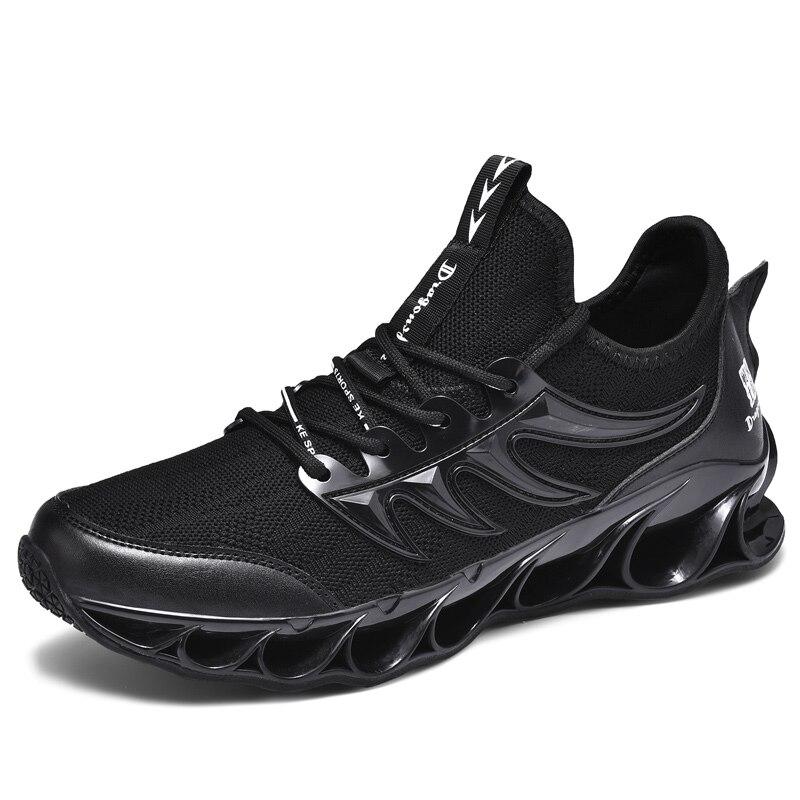Новинка, мужские кроссовки для бега, бега, прогулок, спорта, высокое качество, на шнуровке, дышащие кроссовки - Цвет: 8011Black