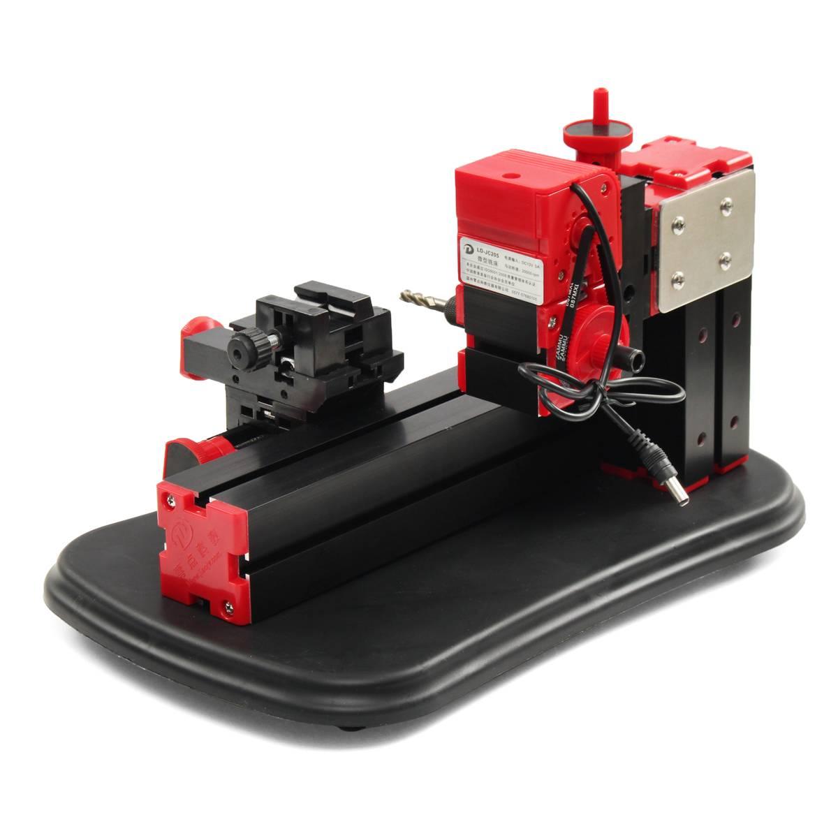 100-240V Mini Drehmaschine Fräsen Maschine Bohrer Maschine Elektrische Bohrer DIY Holzbearbeitung Werkzeug
