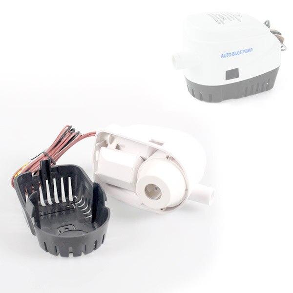 Pompe de cale automatique Submersible blanche 12V 750 GPH avec interrupteur à flotteur interne