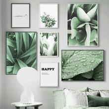 Lírio eucalipto verde planta arte da parede natureza arte da lona pintura nórdico cartazes e impressões imagem parede para sala de estar decoração