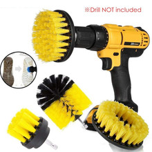 1 Set Electric Drill Brush Kit Plastic Round Cleaning Brush for Carpet Glass Car Tires 2021 Nylon Brushes Scrubber Drill