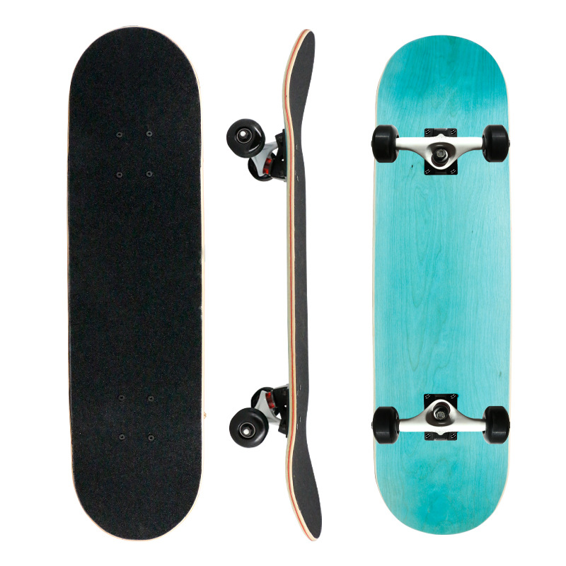 Professional Skateboard Double Warped Dyeing Board Four-wheel Skateboard Beginner Adult Male Female Students Adult Street Skate