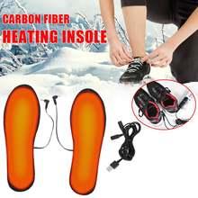 Usb стельки с подогревом Электрический Утеплитель для ног носки