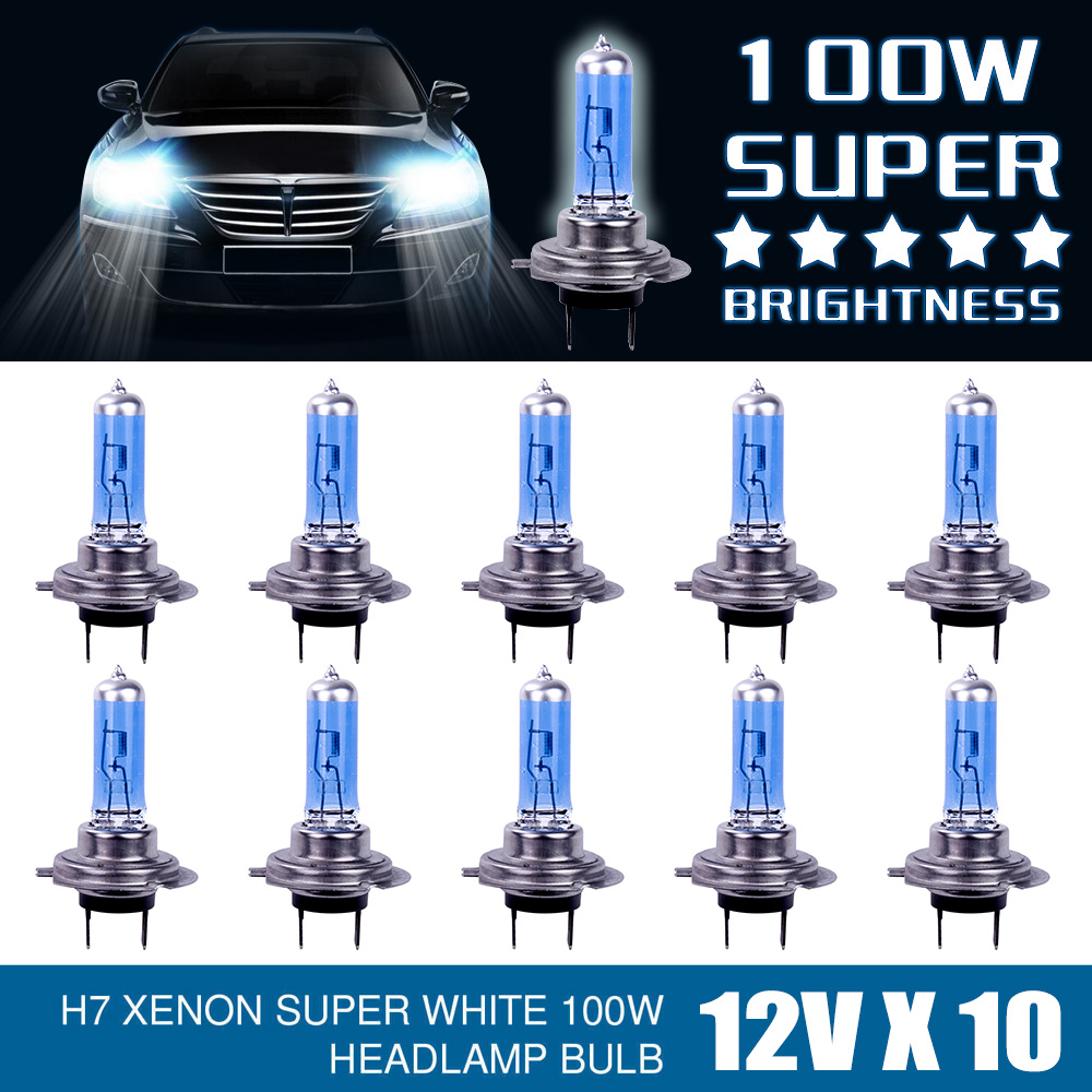 Car Headlight Lamp Headlamp 12V H7 100W Bright White Fog Lights Halogen Bulbs Auto Accessories Car Light Parking