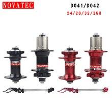 Novatec dağ bisikleti Hub MTB kros bisiklet parçaları D041/D042SB disk brake24 28 32 36 delik 7 10S mühürlü rulman bisiklet hub