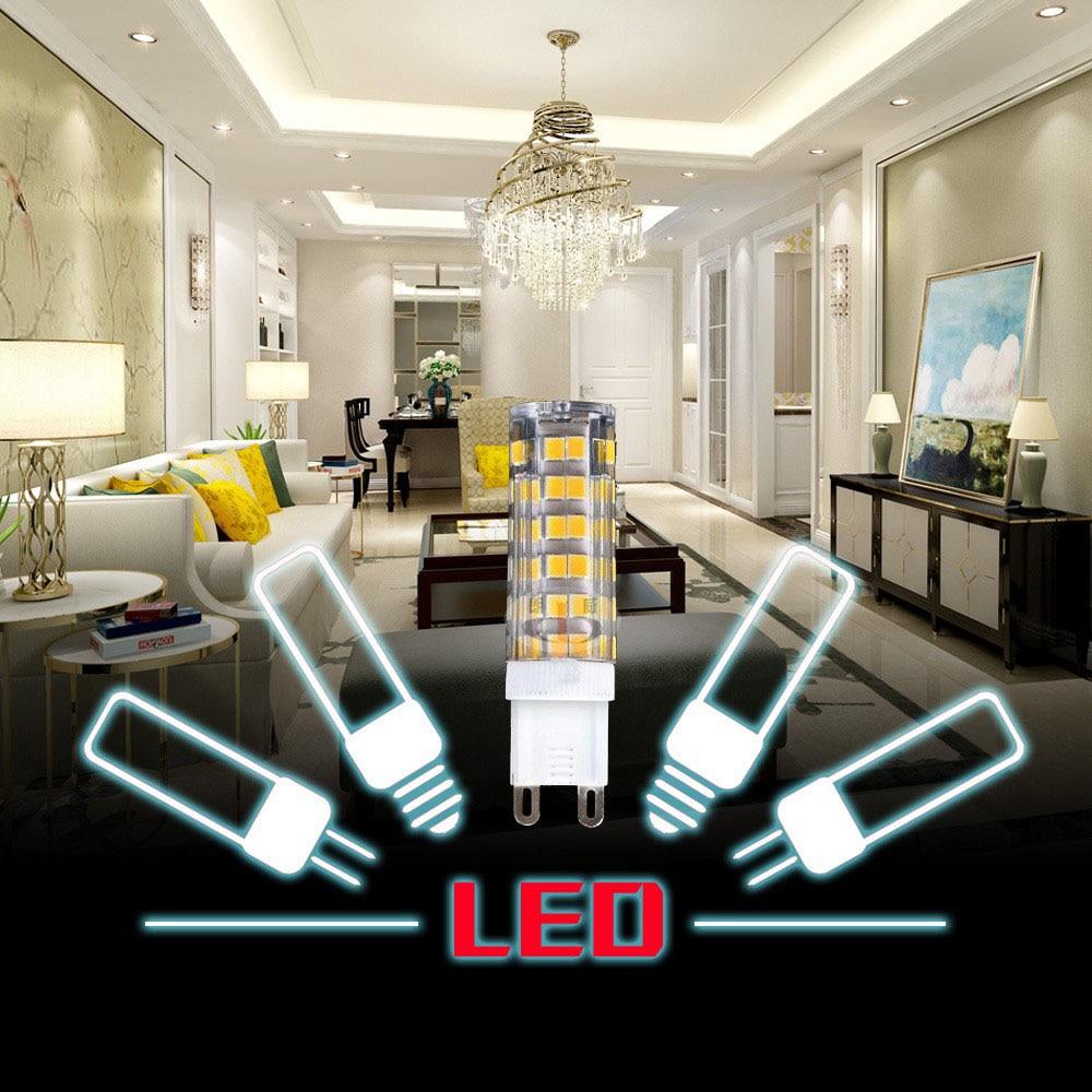 Bombilla Led de mazorca de maíz G9 G4, foco de lámpara 110V 220V COB 33LEDs 51LEDs 75LEDs SMD 2835 reemplazo de 20W 30W 40W 50W luz halógena Luz LED de techo Yeelight 480, APP inteligente, WiFi y Bluetooth, luz de techo, control remoto para sala de estar y Google Home