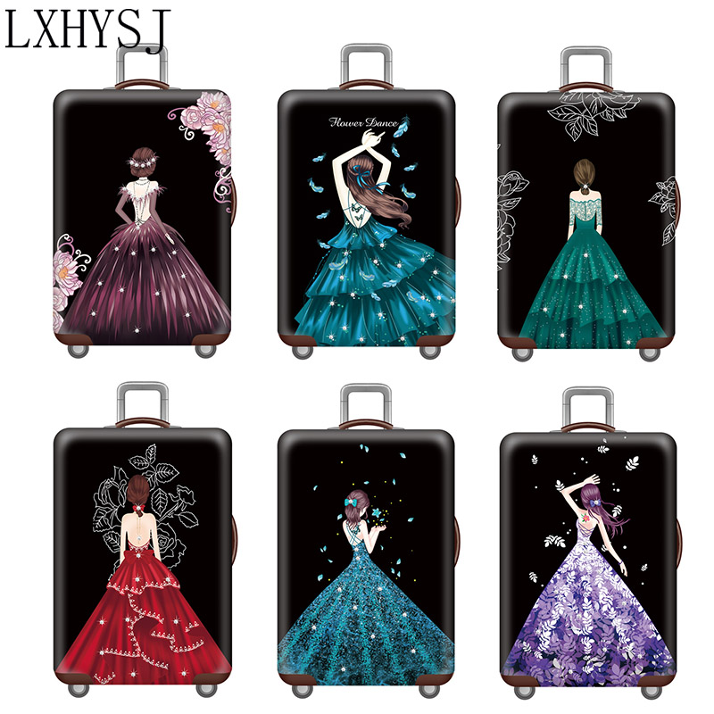 Princess Dress Luggage Cover Luggage Protective Covers Thicken Suitcase Case For 18-32 Inch Elastic Fabric Suitcase Cover