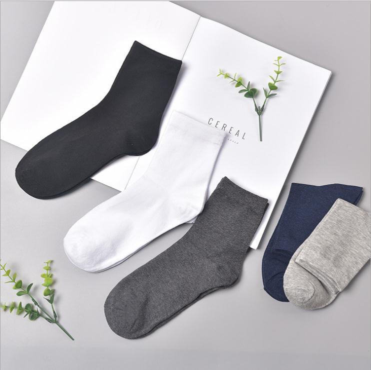 Polyester Cotton 2 Pairs Trainer Socks Plain Black White Mens Womens Ankle Casual Socks