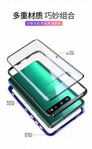 Image 5 - חדש טלפון סלולרי מקרה עבור סמסונג S8 S9 S10 S20 E 5G הערה 8 9 10 פרו בתוספת כיסוי מתכת משני זכוכית 360 מגן עמיד הלם