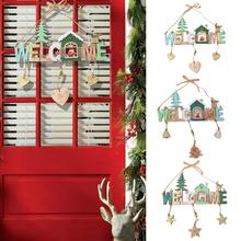 Merry Christmas Porch Sign Decorative Door Banner Christmas Decorations for Home Hanging Christmas Ornaments Navidad 2019