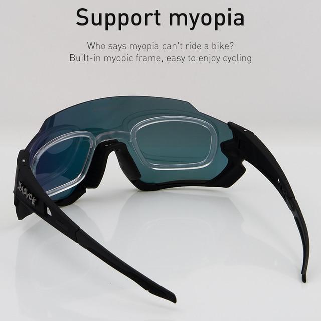 Kapvoe polarizado ciclismo óculos de sol homem mulher esporte mtb bicicleta ciclismo óculos de pesca equitação gafas 3