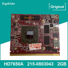 Placa de vídeo original hd7650a hd7650 hd 7650a 215-0803043 para hp hd 7650a mxm 2gb ddr3 gpu placa gráfica 109-c28857-00