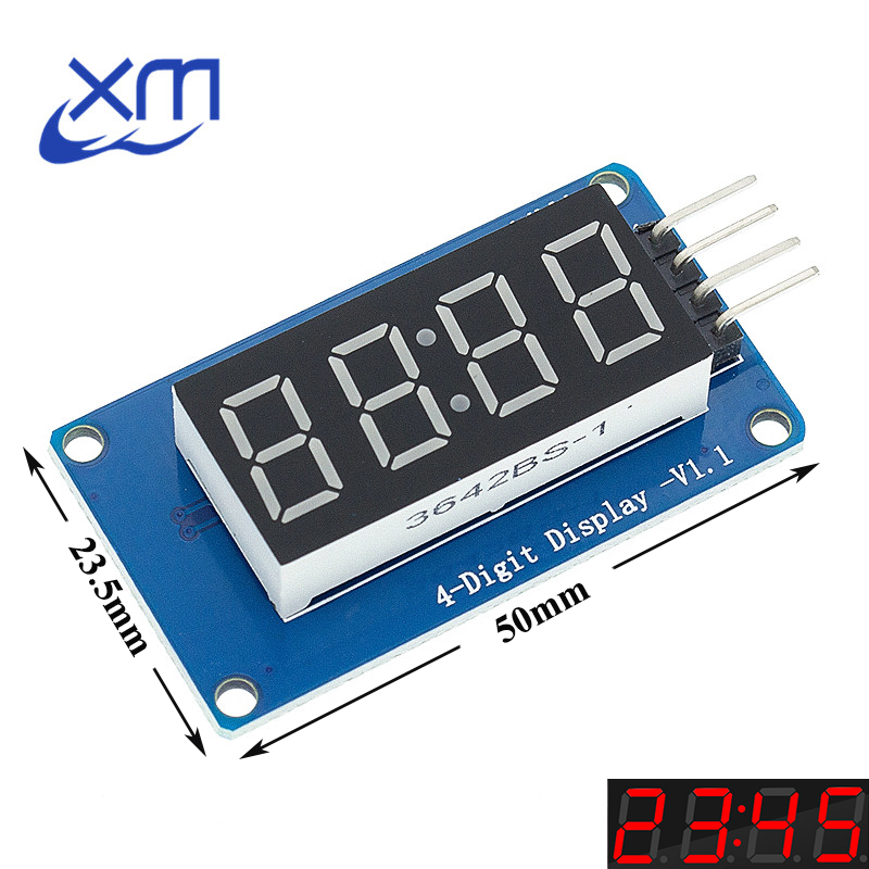 1pcs 4 Bits TM1637 Red Digital Tube LED Display Module & Clock B51
