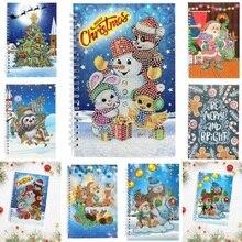 DIY Рождественский Снеговик особой формы алмазная живопись 50 страниц А5 блокнот Navidad блокнот Рождественский подарок 20x14x6 см