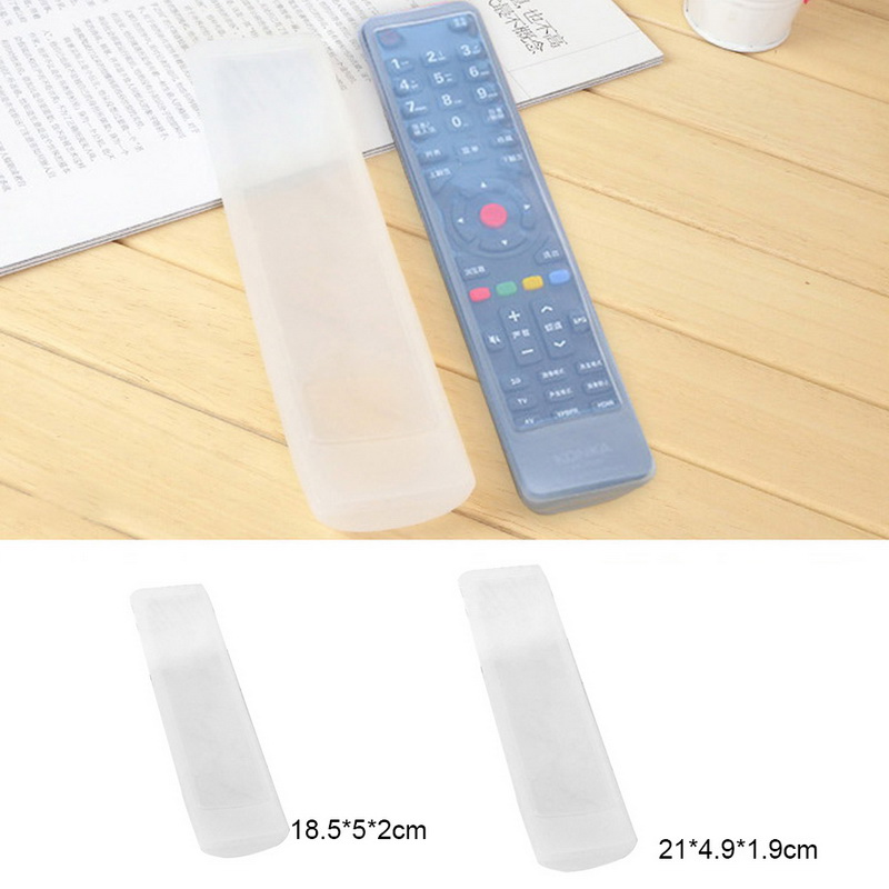 Waterproof Transparent Silicone Remote Control Cover Holder Case For TV Air Conditioner Remote Control